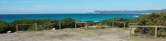 Friendly Beaches Campground Freycinet National Park Coles Bay Beach camping Tasmania Australia