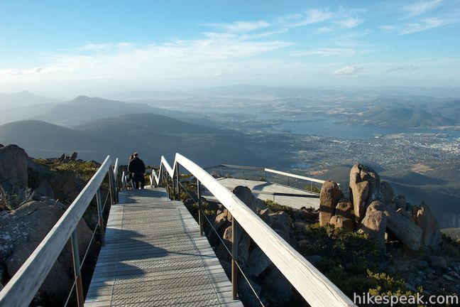 The short walk on the top of Mount Wellington explores two short boardwalks and a trig station at the summit.