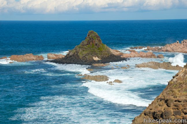 This 0.8-kilometer walk explores a grassy point to two overlooks of Pyramid Rock, a triangle-shaped rock island just off the southern coast of Phillip Island.