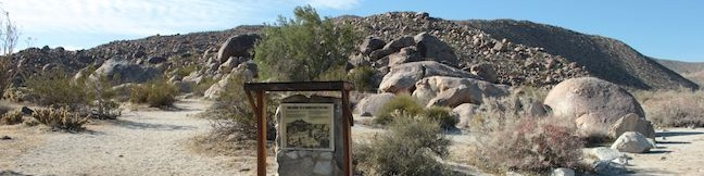 Kumeyaay Indian Village Site Anza-Borrego Desert State Park Native American morteros location to visit
