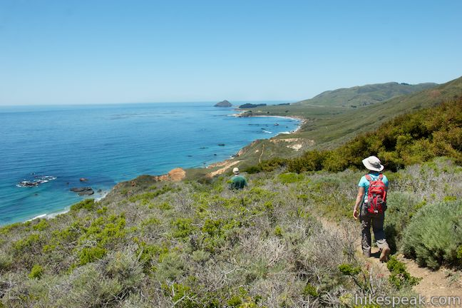 This 8.7-mile loop at the north end of Big Sur crosses a picturesque coastal ridge and bluffs in Andrew Molera State Park.