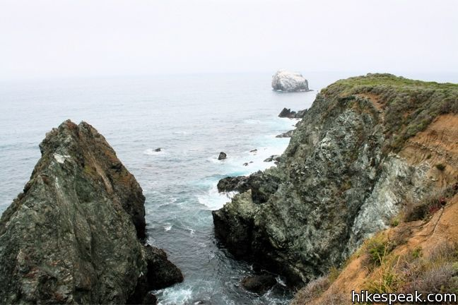 Jade Cove and Plaskett Rock Point in Los Padres National Forest (Big Sur)
