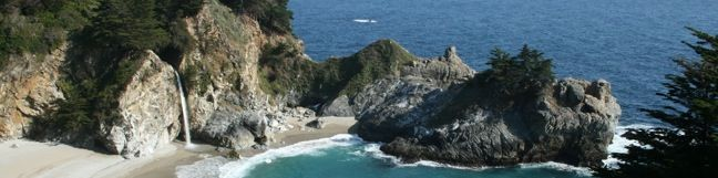 McWay Falls Julia Pfeiffer Burns State Park Waterfall Big Sur Hike California Trail beach waterfall