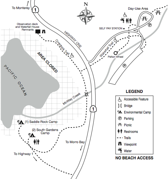 McWay Falls Map and Directions