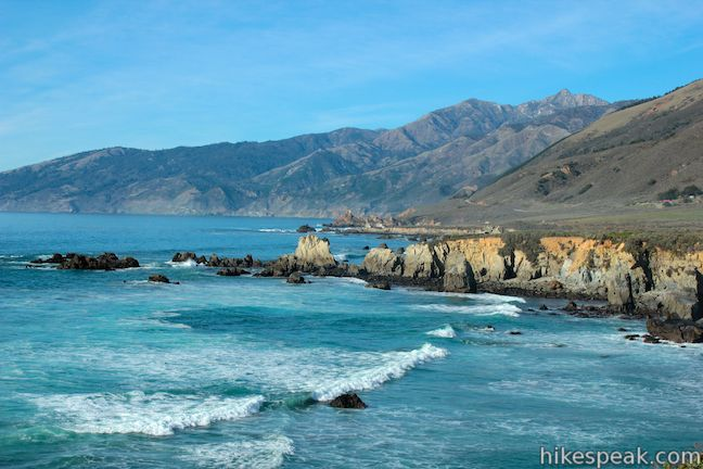 This 1.1-mile hike extends from Highway One to an ocean bluff with fantastic views of the Big Sur Coast.