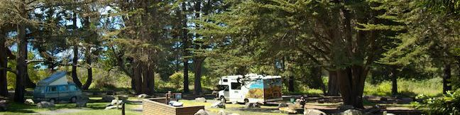 Plaskett Creek Campground Los Padres National Forest Big Sur Coast Camping California