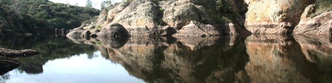 Bear Gulch Reservoir - Cave Trail - Moses Spring - Bear Gulch hike Pinnacles National Monument trail Pinnacles National Park