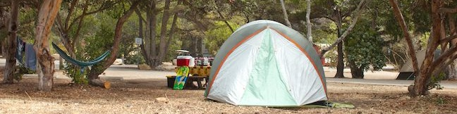 El Capitan State Beach Campground Santa Barbara area camp Goleta California beach camping
