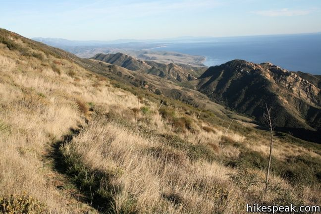 This 6.5-mile loop mounts a 2,458-foot summit two miles from the Pacific and then descends Trespass Trail to explore the wilds of the Santa Ynez Mountains.