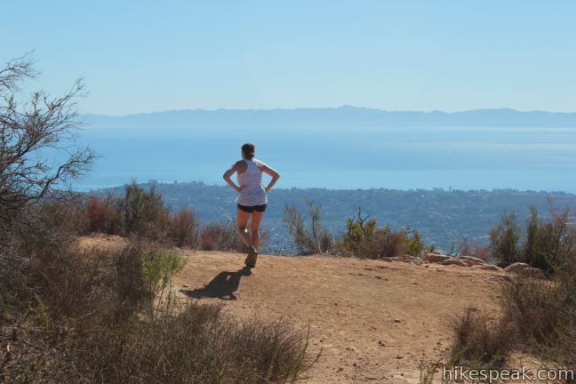 This 7.7-mile hike reaches a panoramic viewpoint in the Santa Ynez Mountains overlooking Santa Barbara.