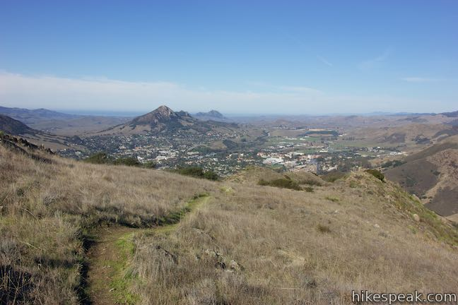 Bishop Peak and Hollister Peak from Summit Trail
