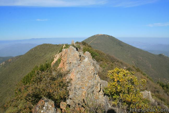 This 5.35-mile semi-loop bags a panoramic 2,624-foot summit in the Santa Lucia Mountains, along with a scenic ridge south of the peak.