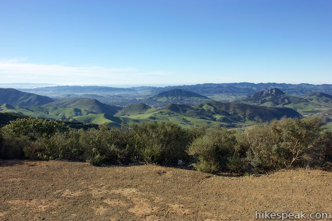 This 6-mile hike crosses a ridge in the Santa Lucia Mountains with panoramic views over San Luis Obispo and ascends to a grove of Sargent cypress in a botanical area in Los Padres National Forest.