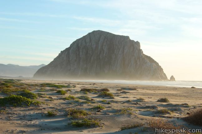 This level 1 to 3.5-mile stroll starts from Cloisters Park and crosses Morro Strand State Beach to reach Morro Rock.