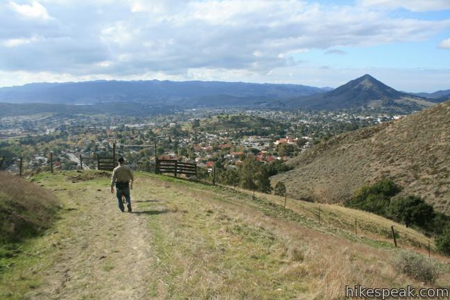 Sydney Street Trail to Murray Hill (Unnamed Hill) in San Luis Obispo
