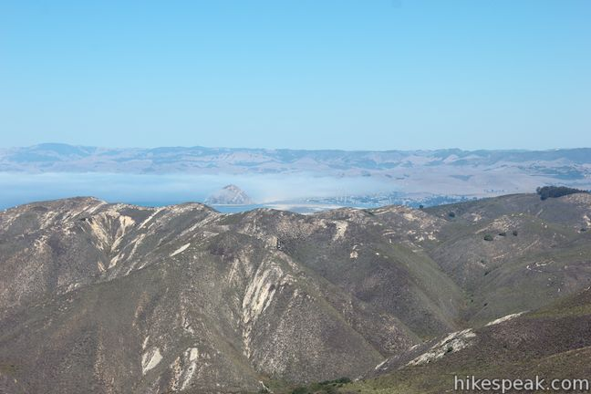 Morro Rock from Oats Peak