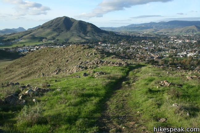 This 1.5-mile hike visits the top of a cluster of hills near downtown San Luis Obispo, offering fine views over the city and surroundings.