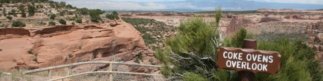Rim Rock Drive scenic road overlooks viewpoints vista points in Colorado National Monument