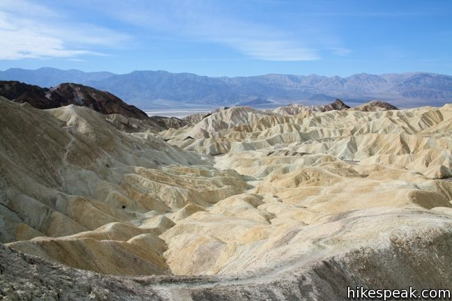 This 2.5-mile loop offers a great immersion into the terrain beneath Zabriskie Point in Death Valley National Park.