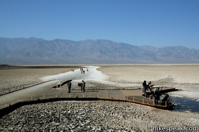 Take a short walk on the salt flats at the lowest place in North America - a required stop for first time visitors to Death Valley National Park.