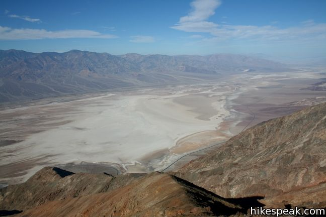 This towering overlook above Badwater Basin offers panoramic views of Death Valley National Park.