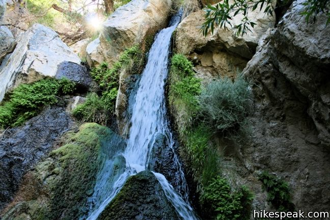 This 2-mile hike visits a refreshing year-round waterfall on the west side of Death Valley National Park.