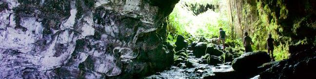 Kaumana Caves Lava Tube Park Hilo Big Island Hawaii