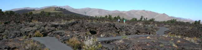 Caves Trail in Craters of the Moon National Monument, Idaho, A hike above and below the surface of a lava flow exploring Indian Tunnel, Dewdrop Cave, Boy Scout Cave, and Beauty Cave - lava tube, lava cave, lava tunnel hiking