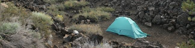 Camping Craters of the Moon National Monument Lava Flow Campground Idaho camp tent