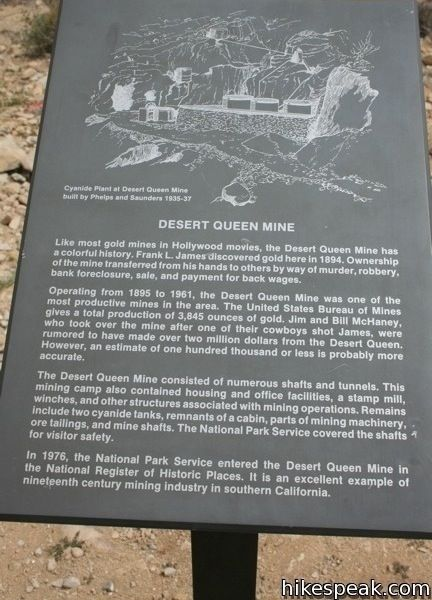 Desert Queen Mine Joshua Tree Hike Info