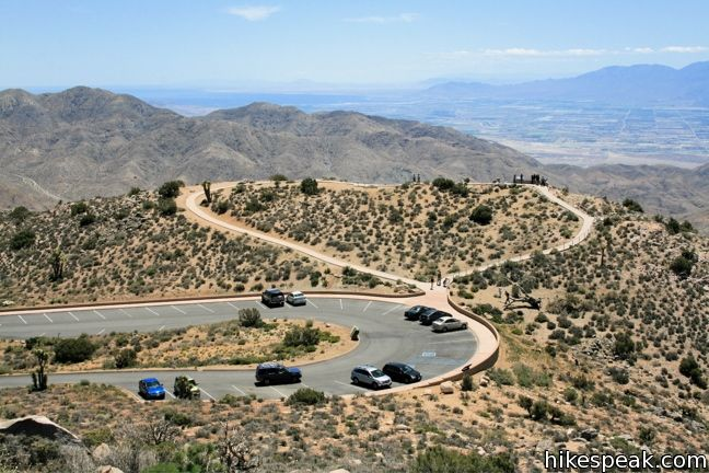 This 1.2-mile hike leaves the crowds at Keys View for even grander views from a 5,550-foot summit with views over Joshua Tree National Park and the desert beyond.