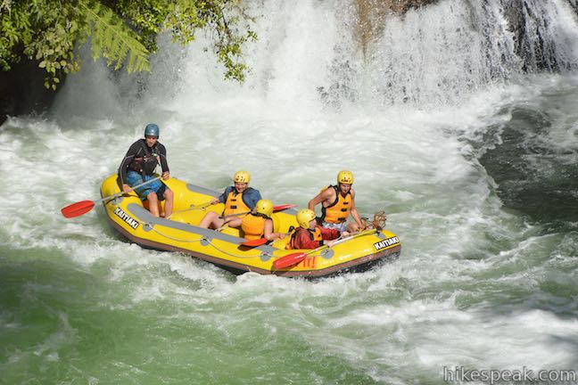 This rafting outfitter takes trips through Okere Falls Scenic Reserve in New Zealand, passing over class 5 rapids that include the tallest commercially rafted waterfall in the world.