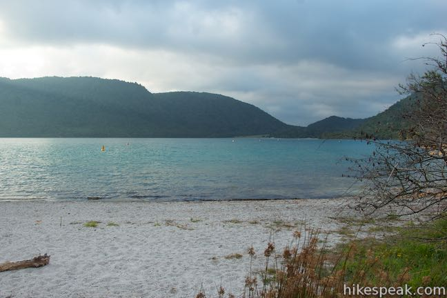 Take a lap around Blue Lake in the forest near Rotorua for a pleasant path to beaches and scenic viewpoints.