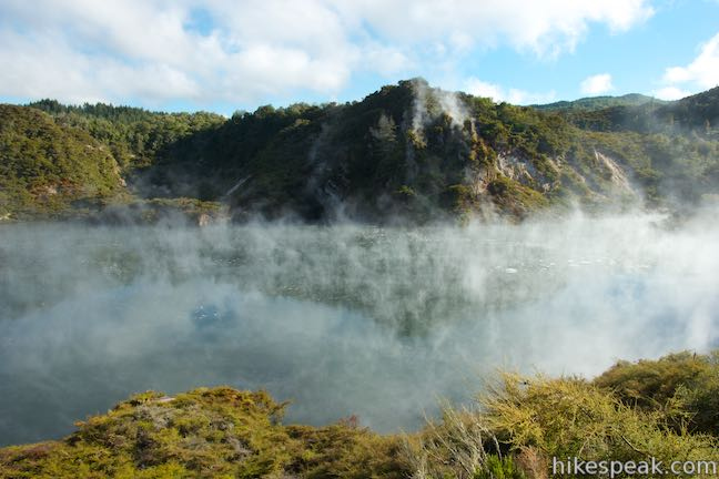Walk past Frying Pan Lake, the largest hot spring in the world, and see other spectacular geothermal features while crossing though Waimangu Volcanic Valley.