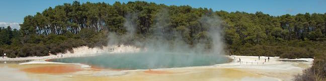 Wai-O-Tapu Thermal Wonderland Rotorua Thermal Reserve Boardwalk Waiotapu Walking Track New Zealand