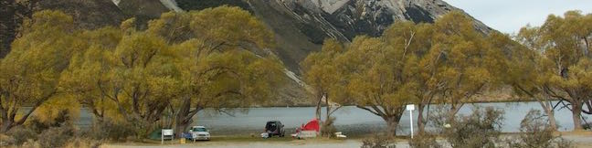 Lake Pearson Moana Rua Wildlife Refuge Campsite Canterbury New Zealand Lake Pearson Campground
