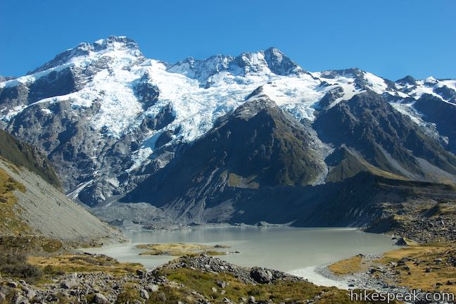 Mount Sefton and Mueller Lake View
