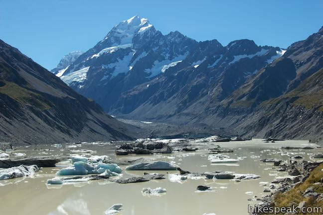 Hooker Lake Icebergs Mount Cook