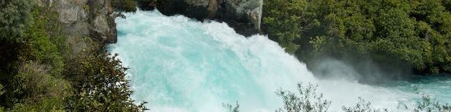 Spa Thermal Park Huka Falls Walkway Taupo New Zealand Waikato River Otumuheke Stream Huka Rapids Waterfall Huka Falls Hike Huka Falls Trail