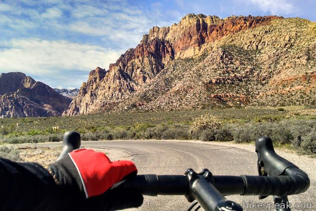 Ride or drive this picturesque road to hit up highlights throughout Red Rock Canyon.