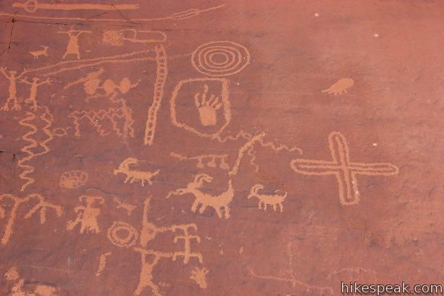 Atlatl Rock Petroglyphs Valley of Fire