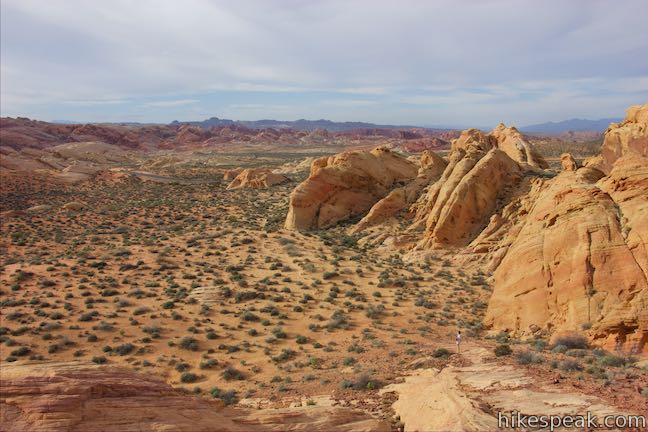 See landscapes of just about every color from this hike off White Domes Road.