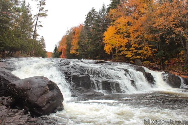 Buttermilk Falls in the Adirondack Mountains