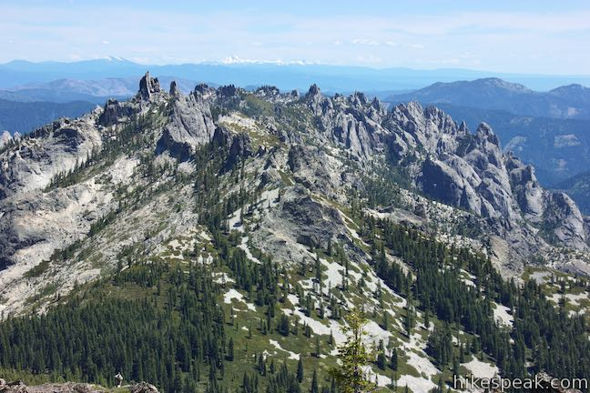 The Castle Crags from Castle Peak