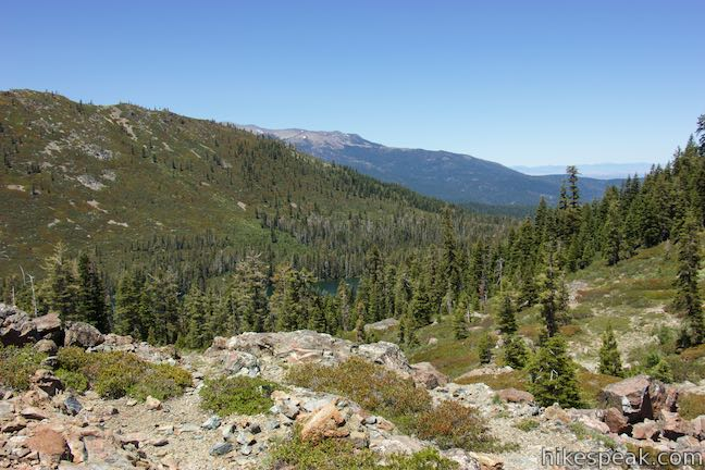 Looking down toward Castle Lake