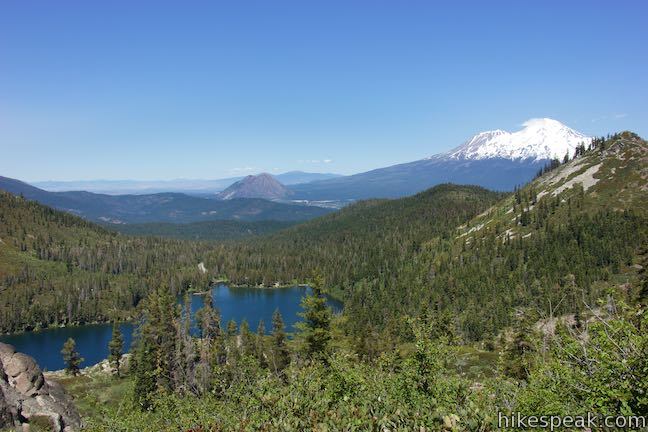 Castle Lake, Mount Shasta, and Black Butte View