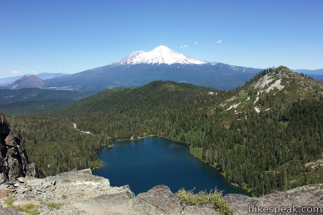 Castle Lake and Mount Shasta