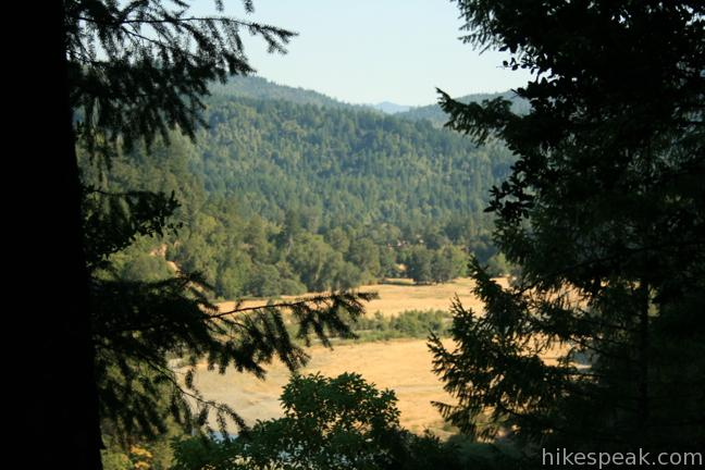 This 3.75-mile loop in Richardson Grive Redwoods State Park climbs 1,000 feet to a forest ridge before descending to Lookout Point, where you can enjoy an unimpressive view to the south.