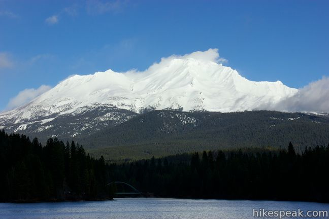 Mount Shasta above Lake Siskiyou