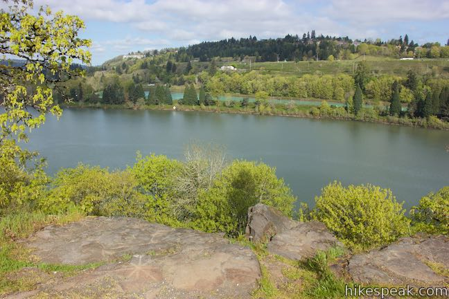Canemah Bluff Overlook Willamette River